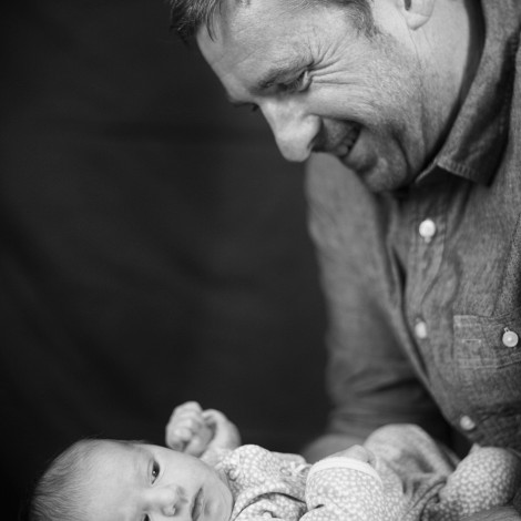 Father and Newborn Daughter