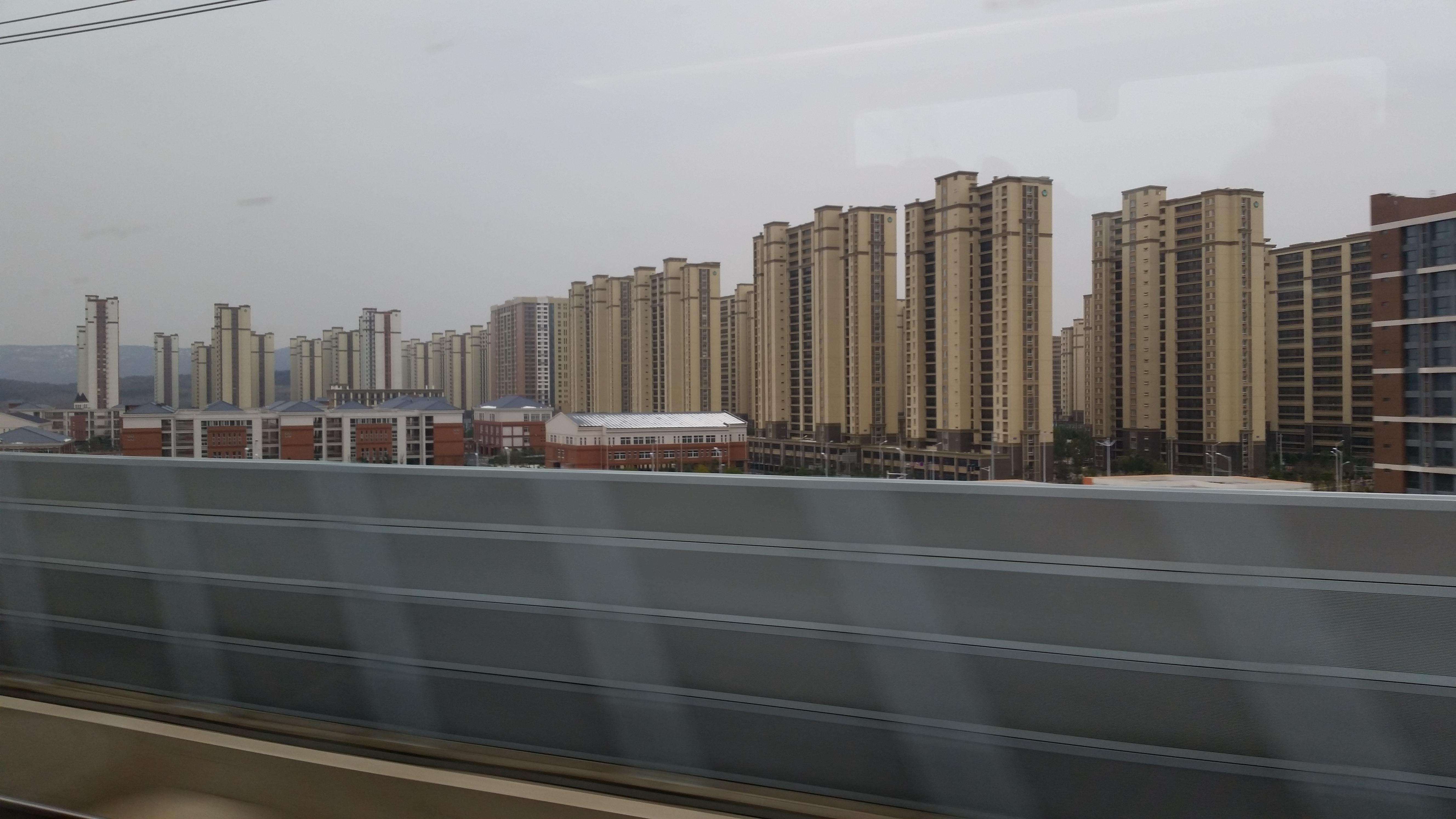 Rows of housing buildings in Beijing all similar in look.